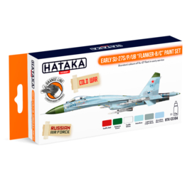 "HTK-CS104	Early Su-27S/P/UB ""Flanker-B/C"" paint set"