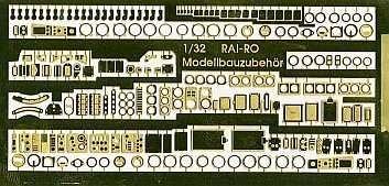06-016  Photo etched cockpit parts 1/48