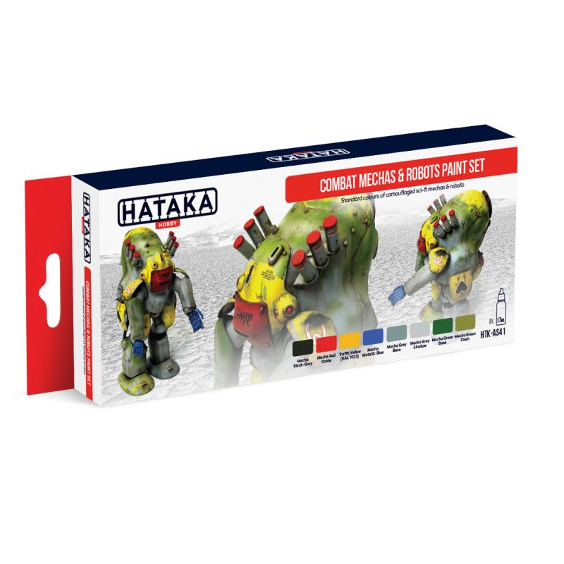 HTK-AS41Combat Mechas & Robots paint set