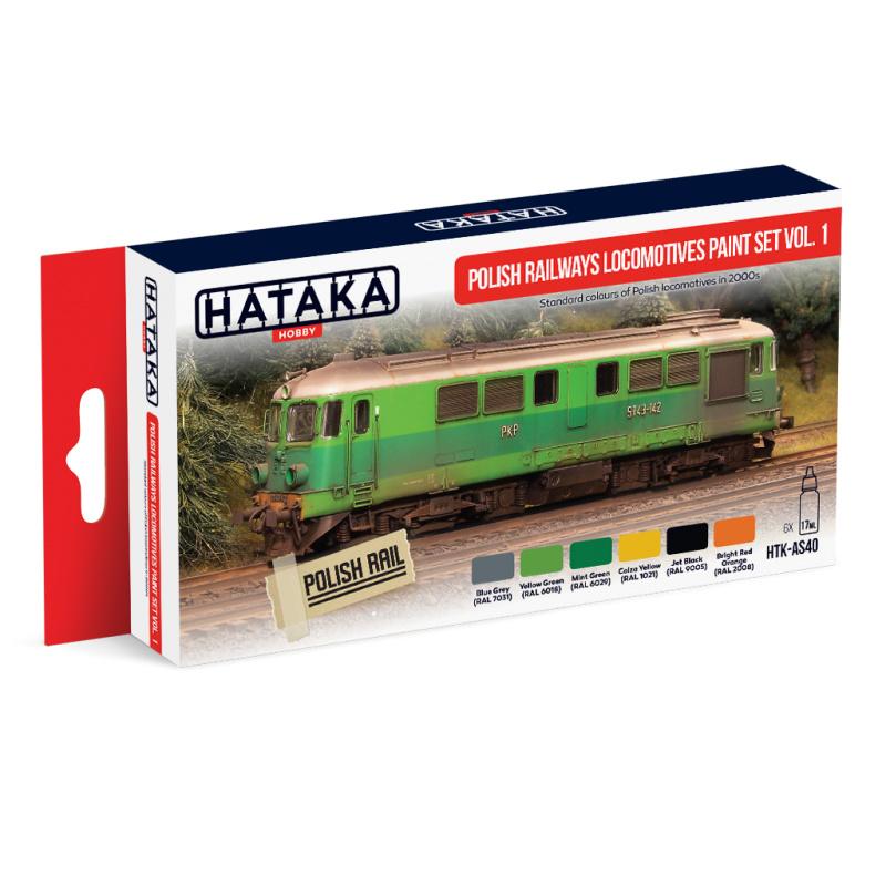 HTK-AS40Polish Railways locomotives paint set vol. 1