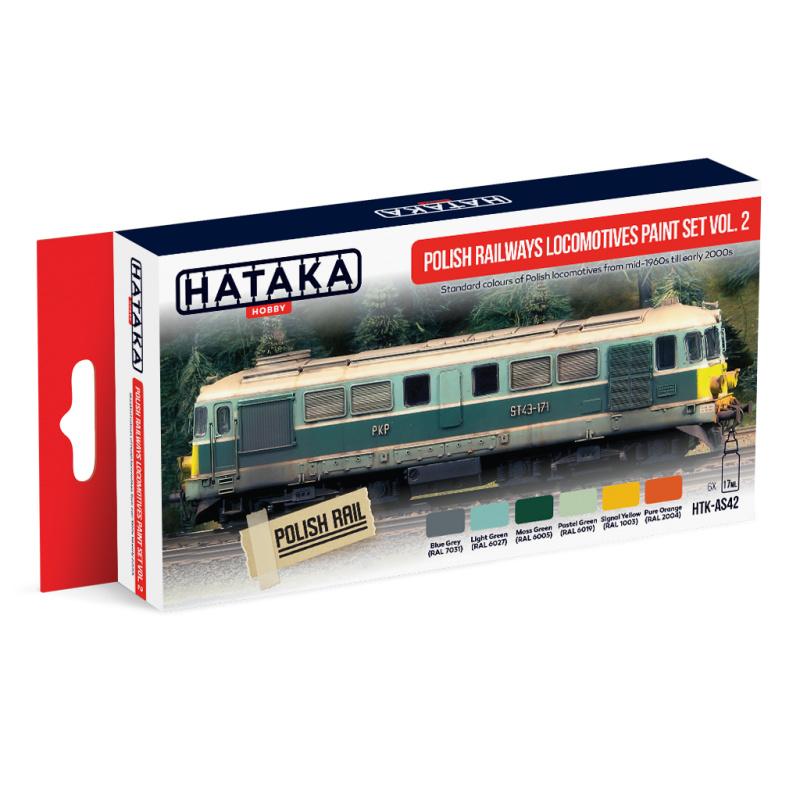 HTK-AS42Polish Railways locomotives paint set vol. 2