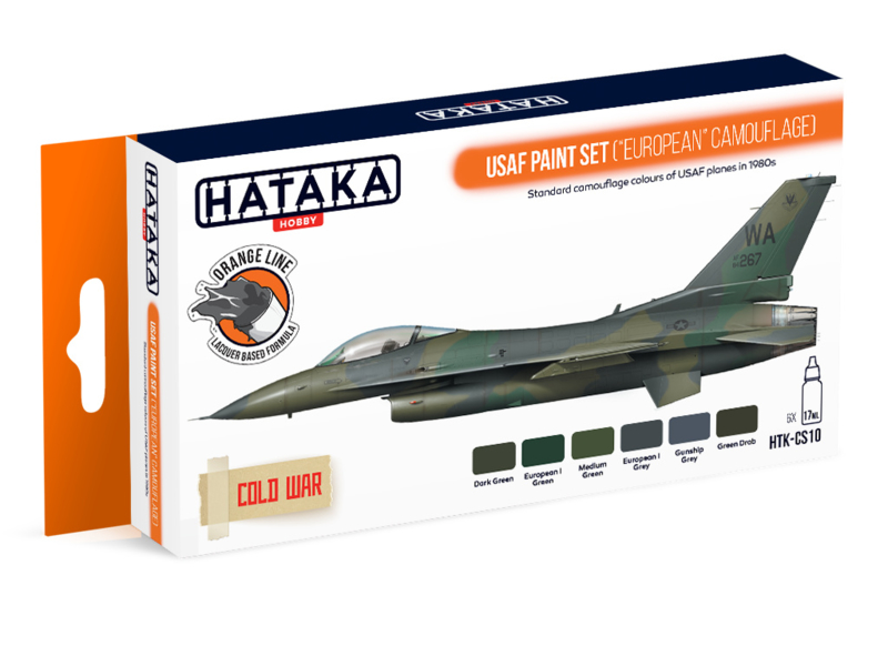 "HTK-CS10	USAF Paint Set (""European"" Camouflage)"