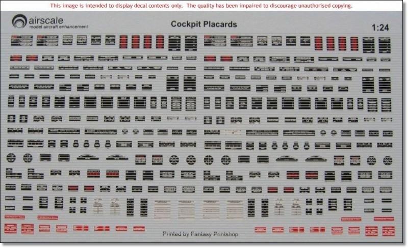AS32-PLAC  1/32 Cockpit placards (260)