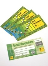 Golfvouchers 2 sets van 5 vouchers