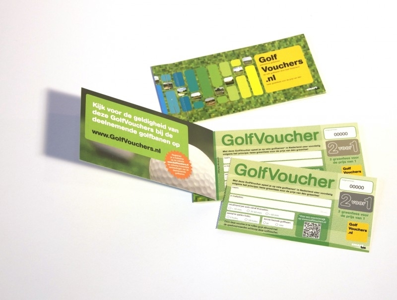 GolfVouchers set van 5 vouchers