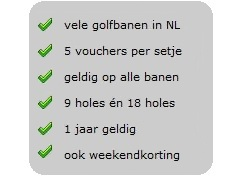 Voordelen GolfVouchers