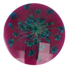 Handgemaakte bloemenknoop nr. 793 paars