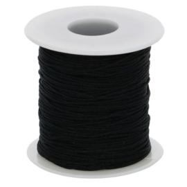 Glanskoord 1 mm nr. 000 zwart