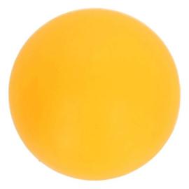 Siliconen kraal rond 10 mm nr. 645 geel