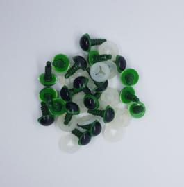 Veiligheidsogen groen 12 mm 10 paar