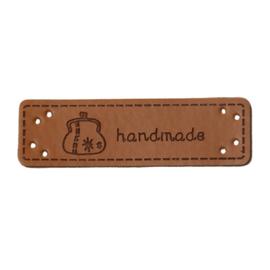 Leren Label Hanmade Portomonnee