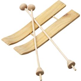 Miniatuur houten ski´s