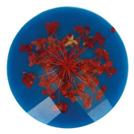 Handgemaakte bloemenknoop nr. 235 blauw
