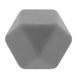 Siliconen kraal hexagon nr. 002 Grijs