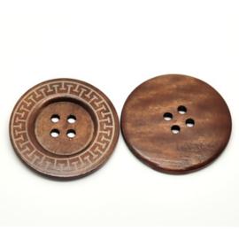 houten knoop 6 cm doorsnede