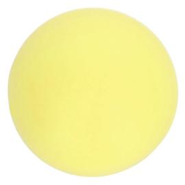 Siliconen kraal rond 10 mm nr. 638 licht geel