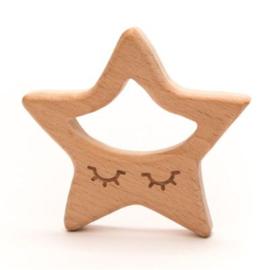 Houten bijtring ster