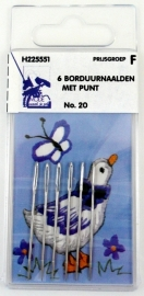 Borduurnaalden met punt no. 20