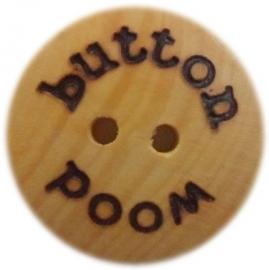 Houten knoop 'Wood Button' 1.5 & 2 cm