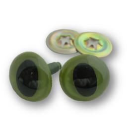 Veiligheidsogen Katten Groen 9 mm