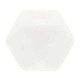 Siliconen kraal hexagon nr. 009 wit