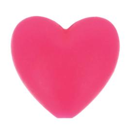 Siliconen kraal hartje 786 roze