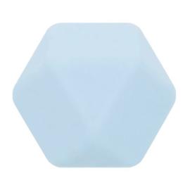 Siliconen kraal hexagon nr. 258 lichblauw