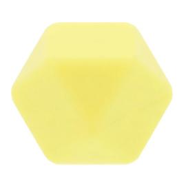 siliconen kraal hexagon nr. 638 lichtgeel