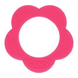 Siliconen bijtring bloem nr. 786 roze