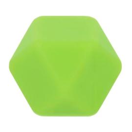 Siliconen kraal hexagon nr. 548 groen