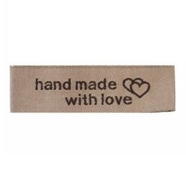 Stoffen Label Handmade With Love