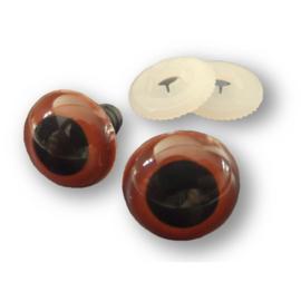 Veiligheidsogen bruin 6 mm