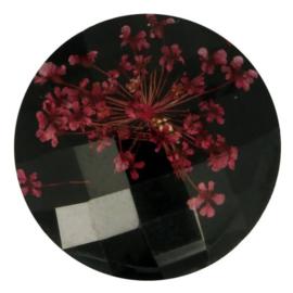 Handgemaakte bloemenknoop nr. 000 zwart