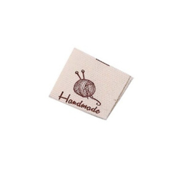 Stoffen Label Handmade With Love  Haaknaald