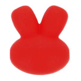 Siliconen kraal konijn nr. 722 rood