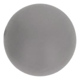 Siliconen kraal rond 10 mm 002 grijs