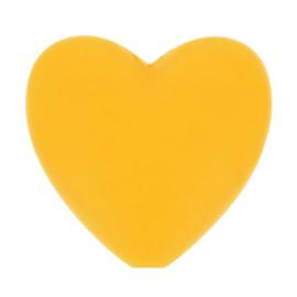 Siliconen kraal hartje 645 geel