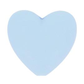 Siliconen kraal hartje 258 lichtblauw
