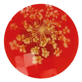 Handgemaakte Bloemenknoop nr. 722 rood