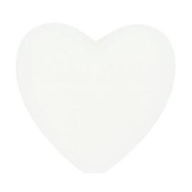 Siliconen kraal hartje nr. 009 wit