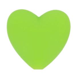 Siliconen kraal hartje 548 groen