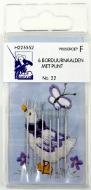 Borduurnaalden met punt no. 22