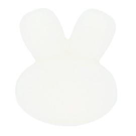 Siliconen kraal konijn nr. 009 wit