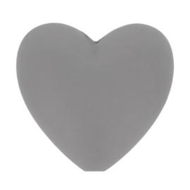 Siliconen kraal hartje nr. 002 grijs