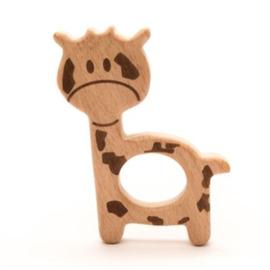 Houten bijtring giraffe