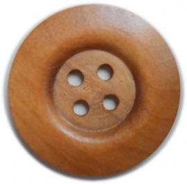 Houten knoop 5 cm doorsnede