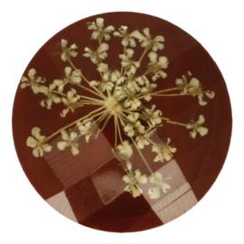 Handgemaakte bloemenknoop nr. 932 bruin