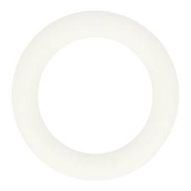 Siliconen bijtring 65mm nr. 009 wit