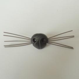 Veiligheidsneus met snorharen 21 mm