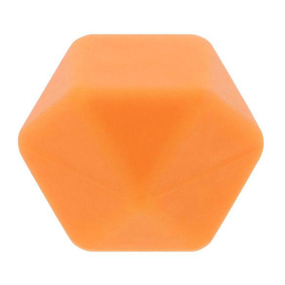 Siliconen kraal hexagon 17 mm nr. 704